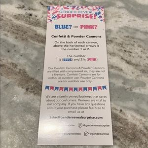 Party Supplies - Pink (Girl) Gender Reveal Confetti Cannons
